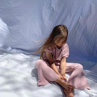 キャラメルベビー&チャイルド(Caramel baby&child )のTwin Collective lounge club flare set(Tシャツ/カットソー)