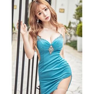 エンジェルアール(AngelR)の21816*sugar限定カラー*リゾートターコイズ/バストビジューキャミドレス(ナイトドレス)