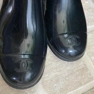シャネル(CHANEL)の【CHANEL】レインブーツ 38♡BLACK(レインブーツ/長靴)