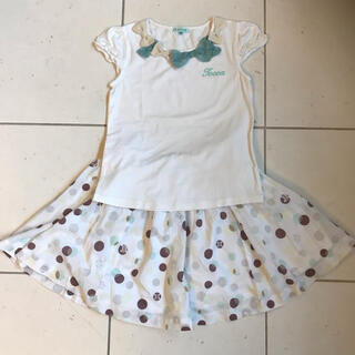 トッカ(TOCCA)のtocca  トッカ Tシャツ 120 & セリーヌ  スカート 110 セット(Tシャツ/カットソー)