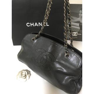 CHANEL - 超美品★シャネル チェーンショルダーバッグ  キャビアスキン 正規品