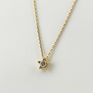 STAR JEWELRY - スタージュエリー ダイヤモンド デザイン ネックレス YG 【中古】