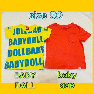 ベビーギャップ(babyGAP)の◉BABY DALL baby gap Tシャツ 90 2点セット◉(Tシャツ/カットソー)
