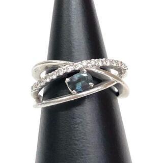 【期間限定】色激変 0.3ctアレキサンドライト、0.2ctダイヤ付、リング(リング(指輪))