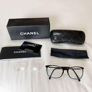 シャネル(CHANEL)のCHANEL 3281 ブラックメガネフレーム 眼鏡(サングラス/メガネ)