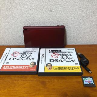 ニンテンドウ(任天堂)の[美品]New Nintendo 3DS LL メタリックレッド セット(携帯用ゲーム機本体)