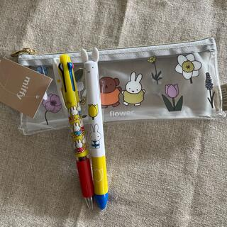三菱鉛筆 - ミッフィーペンポーチ•耳ノック2色ボールペン•ジェットストリーム3色