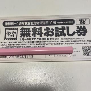カメラのキタムラ スタジオマリオ 無料お試し券 (その他)