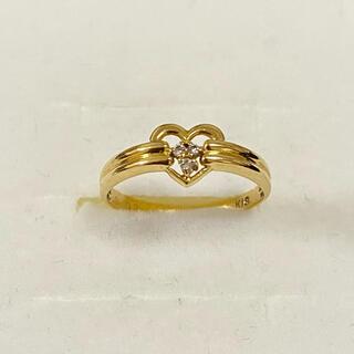 ジュエリーツツミ(JEWELRY TSUTSUMI)のk18 ハート ダイヤモンドリング(リング(指輪))