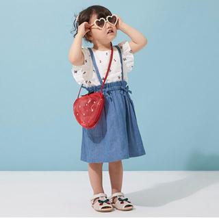 petit main - プティマイン フルーツ刺繍チュニック スカート セット
