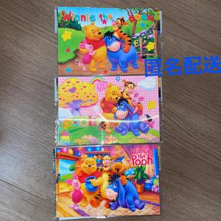 クマノプーサン(くまのプーさん)のプーさん 3Dハガキ&シール  3種類セット(キャラクターグッズ)