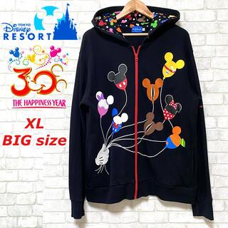 Disney - Disney ディズニーリゾート 30周年 バルーン柄 フーディ ビッグサイズ