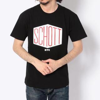schott - 新品★Schott ヘキサゴン ロゴTシャツ ブラック/S