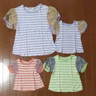 UNICA - UNICA 親子コーデ Tシャツ 半袖 異素材 3点 90・95・160 ユニカ