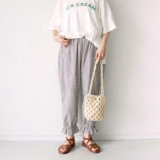 SM2(サマンサモスモス)の【新品タグ付】SM2  裾フリルパンツ レディースのパンツ(カジュアルパンツ)の商品写真