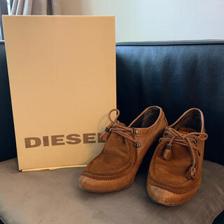 ディーゼル(DIESEL)の【美品】 DlESEL ディーゼル パンプス ショートブーツ 茶色(ブーツ)