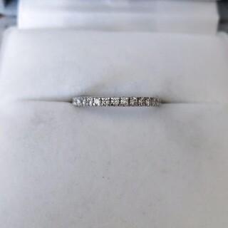 ヨンドシー(4℃)の4℃ ダイヤモンド エタニティ リング Pt995 2.6g(リング(指輪))