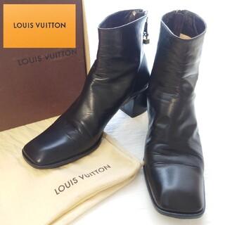 LOUIS VUITTON - LOUIS VUITTON ルイヴィトン アンクルブーツ ショートブーツ