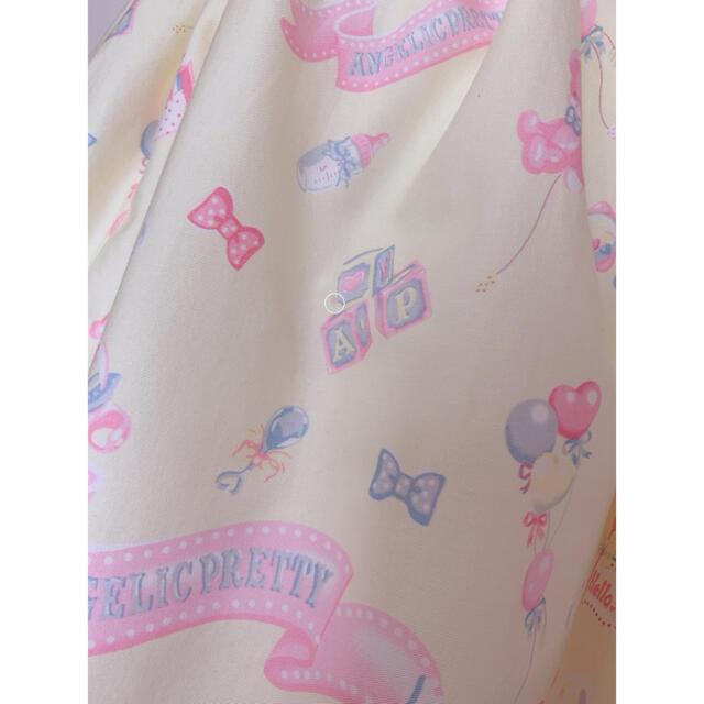 Angelic Pretty(アンジェリックプリティー)のベビールーム jsk・ボンネット2点セット レディースのワンピース(ひざ丈ワンピース)の商品写真