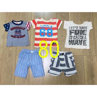 F.O.KIDS - 《80》【まとめ売り】ベビー Tシャツ+パンツ 5枚セット!!①