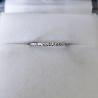 ヨンドシー(4℃)の4℃ ダイヤモンド エタニティ リング K18WG 1.0mm 1.5g(リング(指輪))