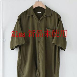 COMOLI - COMOLI コモリ ベタシャン オープンカラーシャツ OLIVE 21ss