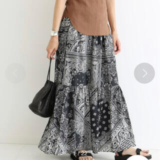 FRAMeWORK - 美品!FRAMeWORK バンダナプリント ティアードスカート
