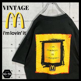 アートヴィンテージ(ART VINTAGE)の【激レア】McDonald's マクドナルド ビンテージ 両面 黒 メキシコ製(Tシャツ/カットソー(半袖/袖なし))
