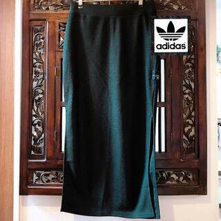 adidas - アディダス オリジナルス 新品 シンプル ロングスカート 黒 ジャージ パンツ