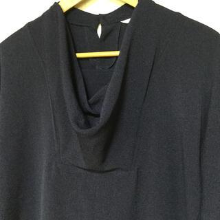 グリモワール(Grimoire)の日本製 レトロ 変形トップス ネイビー 9号(シャツ/ブラウス(長袖/七分))