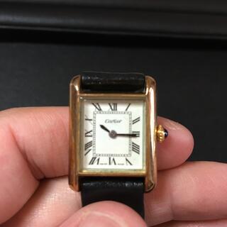 カルティエ(Cartier)の希少品 アンティーク カルティエ マストタンク SM 初期 アンティーク 手巻き(腕時計)