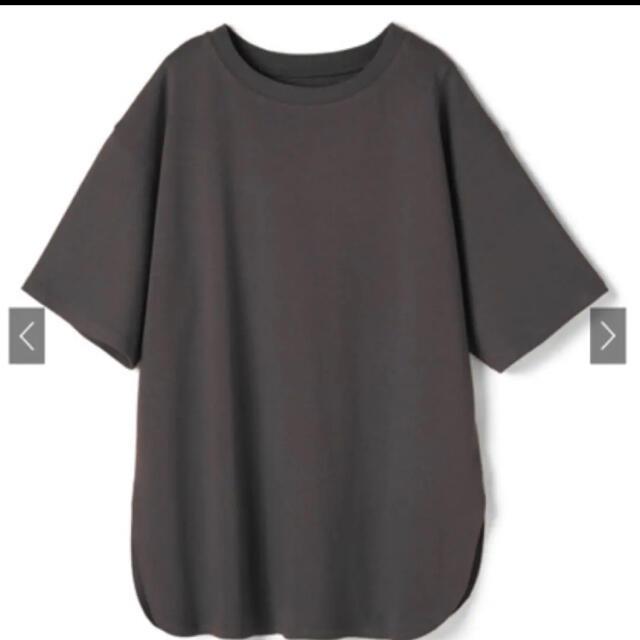 GRL(グレイル)のオーバーサイズラウンドヘムTシャツ レディースのトップス(Tシャツ(半袖/袖なし))の商品写真