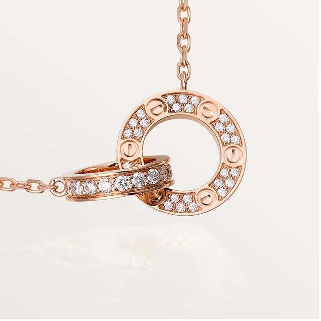 Cartier(カルティエ)のカルティエ LOVEネックレス ピンクゴールド レディースのアクセサリー(ネックレス)の商品写真