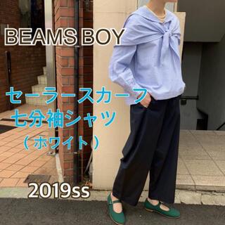 ビームスボーイ(BEAMS BOY)のBEAMS BOY /  セーラースカーフ 七分袖 シャツ ホワイト(シャツ/ブラウス(長袖/七分))