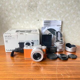 パナソニック(Panasonic)の☆美品☆ Panasonic デジタル一眼カメラ LUMIX DMC-GF7W (デジタル一眼)