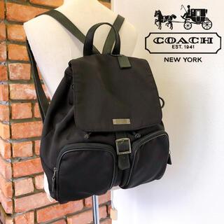 COACH - 良品 コーチ ボンディングリュック ブラック 6243 通勤 通学 旅行