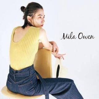 Mila Owen - VERY掲載 Mila Owen ミラオーウェン オーガニックリブノースリニット