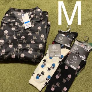 ジーユー(GU)の新品 ジーユー アンダーカバー パジャマ 半袖 M 靴下(ルームウェア)
