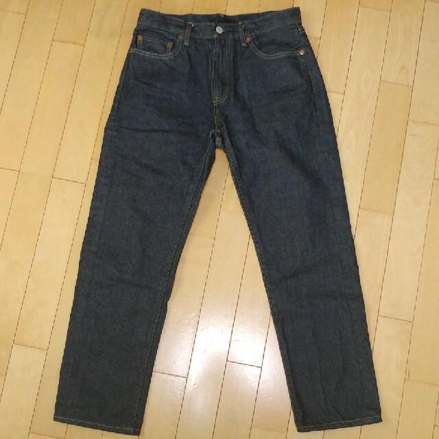 UNIQLO(ユニクロ)のユニクロ セルビッジレギュラーフィットストレートジーンズ 29インチ メンズのパンツ(デニム/ジーンズ)の商品写真
