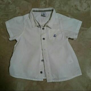 プチバトー(PETIT BATEAU)のプチバトー 半袖 シャツ 80 90 18m 入園式 卒園式 男の子 女の子(ブラウス)