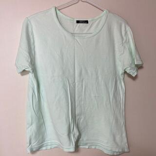 グリーン 半袖 レディース Tシャツ 綿95%(Tシャツ(半袖/袖なし))