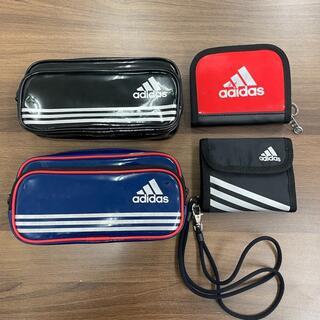 アディダス(adidas)の【◆Ki879】アディダス 4点セット エナメル ポーチ ナイロン 財布(折り財布)