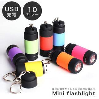 ミニ懐中電灯 ライト ポケットライト USB充電式ライト LED LED(ライト/ランタン)