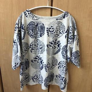 Design Tshirts Store graniph - グラニフ チューリップ袖Tシャツ シルエットオブフォレスト