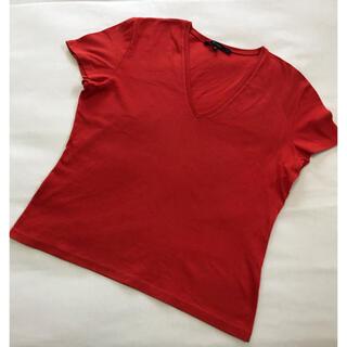 グッチ(Gucci)のグッチ♡GUCCI♡Vネックカットソー♡レッド(Tシャツ(半袖/袖なし))