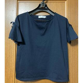 クチュールブローチ(Couture Brooch)の袖リボン カットソー(カットソー(半袖/袖なし))