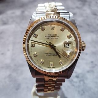 ROLEX - ロレックス メンズ デイトジャスト 10P ダイヤモンド 16233G 時計