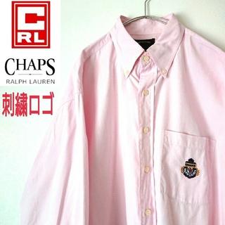 CHAPS - CHAPS チャップス ラルフローレン 刺繍ロゴ ビッグサイズ  BD シャツ