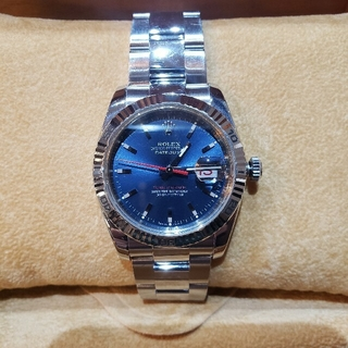 ROLEX - ロレックス デイトジャスト ターノグラフ 116264 ブルー メンズ 時計