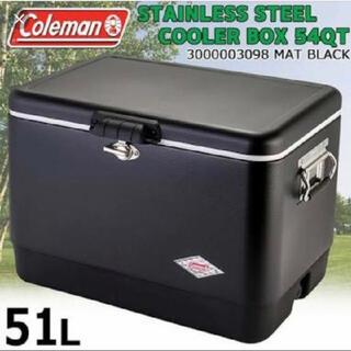 コールマン(Coleman)の限定 コールマン スチールベルト クーラー 54QT マットブラック レア(その他)